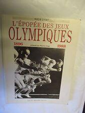 """.Maurice Vidal """"L'épopée des Jeux Olympiques 1896 1988"""" /Miroir Sprint 1988"""