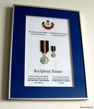 Canada Queen Elizabeth II Diamond Jubilee Full Size & Miniature Medals Framed