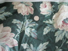 Laura Ashley Twin Bed Skirt Dust Ruffle Chintz Cottage Rose Green Floral
