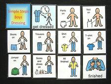 SIMPLE STEPS Boys Dressing - Visual Communication SEN PECS Autism ADHD Sensory