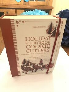 WILLIAMS SONOMA Holiday Storybook Cookie Cutters 3-D Christmas Cookies