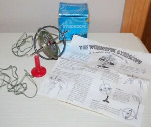 Vintage The Wonderful Gyroscope-A Scientific & Instructive Toy  - Space Age