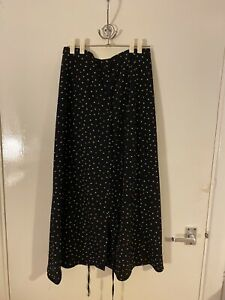 Topshop polka Dot Midi Skirt UK 10