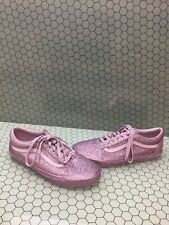 VANS Old Skool Purple Glitter Textile Lace Up Low Top Skate Shoes Men's Size 10