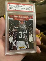 2012 Panini National Convention Cracked Ice Trent Richardson Psa 9 Rg Collection