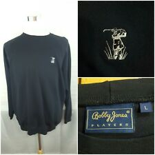 Men's Bobby Jones Collection Xl Navy Black Crew neck Long Sleeve Sweater