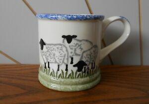 BLACKFACE SHEEP beautiful small hand painted coffee/tea mug SHEEPSCOMBE 2002