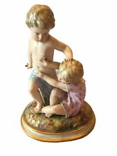Antique Meissen Porcelain Group of Children Playing
