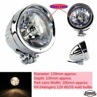 """Chrome 4.5"""" Front Headlight Head Lamp For Harley Chopper Bobber Softail Custom"""