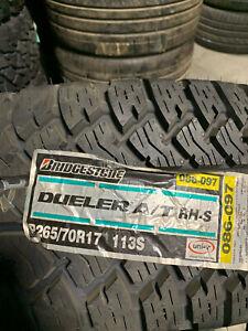 1 New 265 70 17 Bridgestone Dueler A/T RH-S Tire