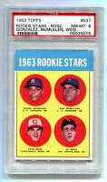 1963 TOPPS #527 PETE ROSE RC ROOKIE PSA 8 NM-MT B05026015 (HIGH END)+++