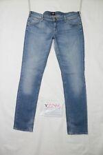 Lee LYNN NARROW usato (Cod.Y2295) W33 L33 denim jeans donna vita bassa dritto