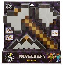 New Minecraft 3 in 1 Muti Tool Pack Pickaxe Axe Shovel Gift Kids - UK Seller