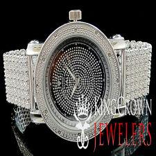 14K White Gold Finish Mens  Joe Rodeo Jojo Jojino Genuine Diamond Custom Watch