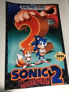 Sonic The Hedgehog 2 Cover Poster, 13 X 19