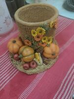 Harvest Holiday by Artisan Flair Inc Pumpkin/Harvest Candle Holder/Planter