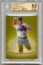 2013 Bowman Sterling Prospects FRANCISCO LINDOR Gold Refractor SP /50 RC BGS 9.5