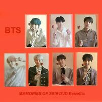 BTS Memories 2019 DVD Photocard V Jungkook JIMIN SUGA RM J-Hope JIN Official
