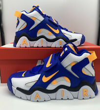 Nike Air Barrage Mid Warriors AT7847-100 Men Basketball Shoes Rams Blue Yellow