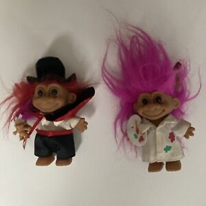 Vintage Troll Dolls Painter/Artist and Magician