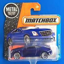 2016 Matchbox 2011 DARK BLUE CADILLAC CTS COUPE LUXURY SPORTS - mint on card!