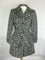 Marks and Spencer Ladies Rain Coat Jacket in Black Print Size 10 14 18 20 (199)