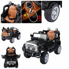 12V MP3 Kids Ride On Truck Jeep Car Remote Control & LED Lights Music Xmas Gift
