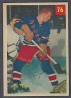 1954-55 Parkhurst New York Rangers Hockey Card #76 Ron Murphy RC (EX+)