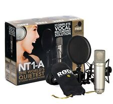 RODE NT1-A Condenser Microphone + Pop Shield + Shock Mount + Dust Cover