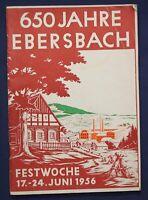 650 Jahre Ebersbach 1956 Festwoche Chronik Ortskunde Sachsen Geschichte sf