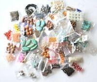 Lot Assorted Mix Beads Gemstones Swarovski Metals Shells Jewelry Making 25 Bags