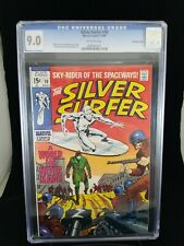 Silver Surfer 10 CGC 9.0 BOWLING GREEN PEDIGREE Off-White Pages Stan Lee Buscema