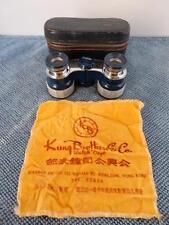 Vintage Carton 2.5X Mother Of Pearl Glasses Binoculars w/case