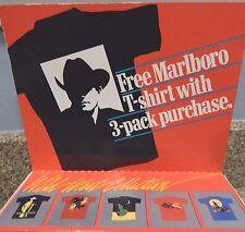 New in Package Marlboro Man Cigarette Large Black T-Shirt 1989