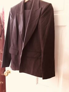 Chocolate Brown Trouser Suit. Size 12.