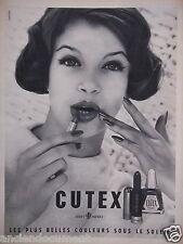 PUBLICITÉ 1958 CUTEX FERET FRÈRES BELLES COULEURS SOUS LE SOLEIL - ADVERTISING