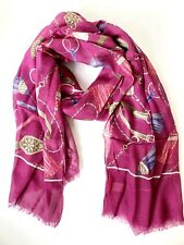 NWT ALTEA ITALY PURPLE PINK SOFT LONG WOMEN SCARF
