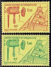 1990 SPM SAINT PIERRE ET MIQUELON TIMBRE STAMP NEUF N°535/536** OUTILS / VOILIER