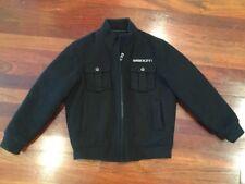 Sean John Black Wool Blend Bomber Fall / Winter Boys Jacket Size XL - 7