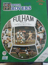 BRISTOL ROVERS V FULHAM, 4TH APRIL 1980, DIV 2