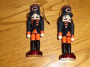 2 NFL Chicago Bears Football Christmas Team Ornament Xmas NFL Decor Toy Soldier