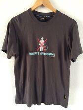 Plain Lazy Mens T Shirt Top Grey Reduce Emissions Logo Size S <R5554