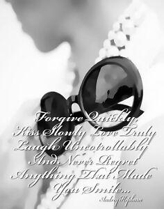 Audrey Hepburn #3 Quote Canvas 16 x 20   #5385
