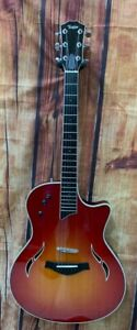 Taylor Model T5-C Thinline Acoustic/Electric Guitar in Cherry Sunburst with Case