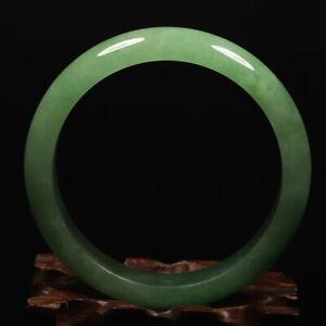 59mm Emerald Green Jadeite Jade Bangle Bracelet Chinese Jade Bracelet A-FP0082