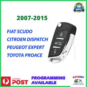 FIAT KEY REMOTE SCUDO CITROEN DISPACH PEUGEOT EXPERT PROACE 2007-2016