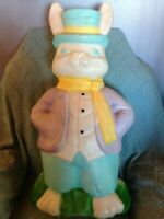 "VINTAGE EASTER 1994 EMPIRE 34"" MR. RABBIT BLOW MOLD W/LIGHT CORD"