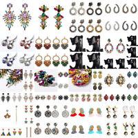Fashion Women Crystal Earrings Geometric Stud Dangle Earrings Jewelry Gift