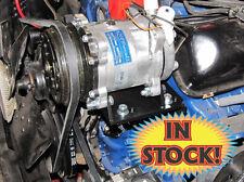 York to Sanden A/C Bracket Conversion Kit International with V-Belt Compressor