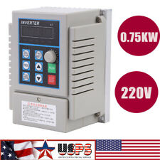 075kw 1hp Vfd 5a 220v Single Phase Speed Variable Frequency Drive Inverter